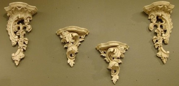 hand carved wall accents