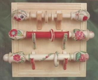 hand painted drapery hardware